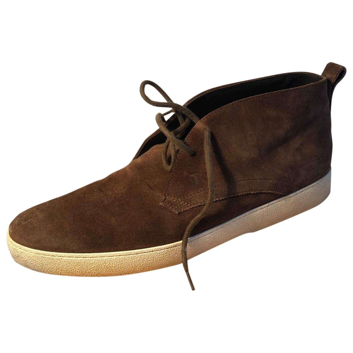 Tod's \N Brown Suede Boots for Men 8.5 UK