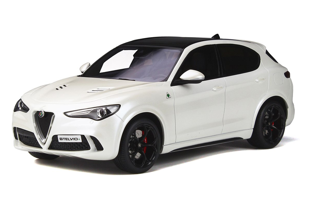 Alfa Romeo Stelvio Quadrifoglio with Sunroof White Limited Edition to 1500 pieces Worldwide 1/18 Model Car by Otto Mobile