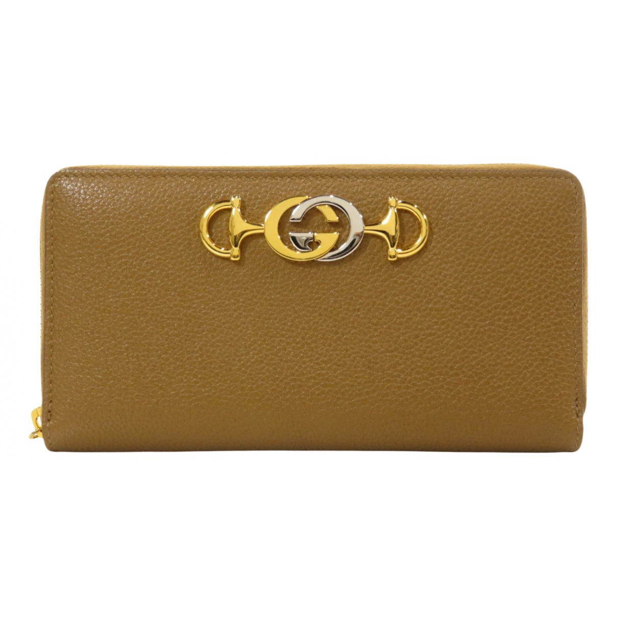 Gucci Zumi Camel Leather wallet for Women \N