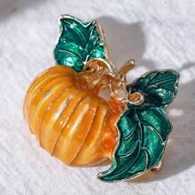 Halloween Pumpkin Brooch
