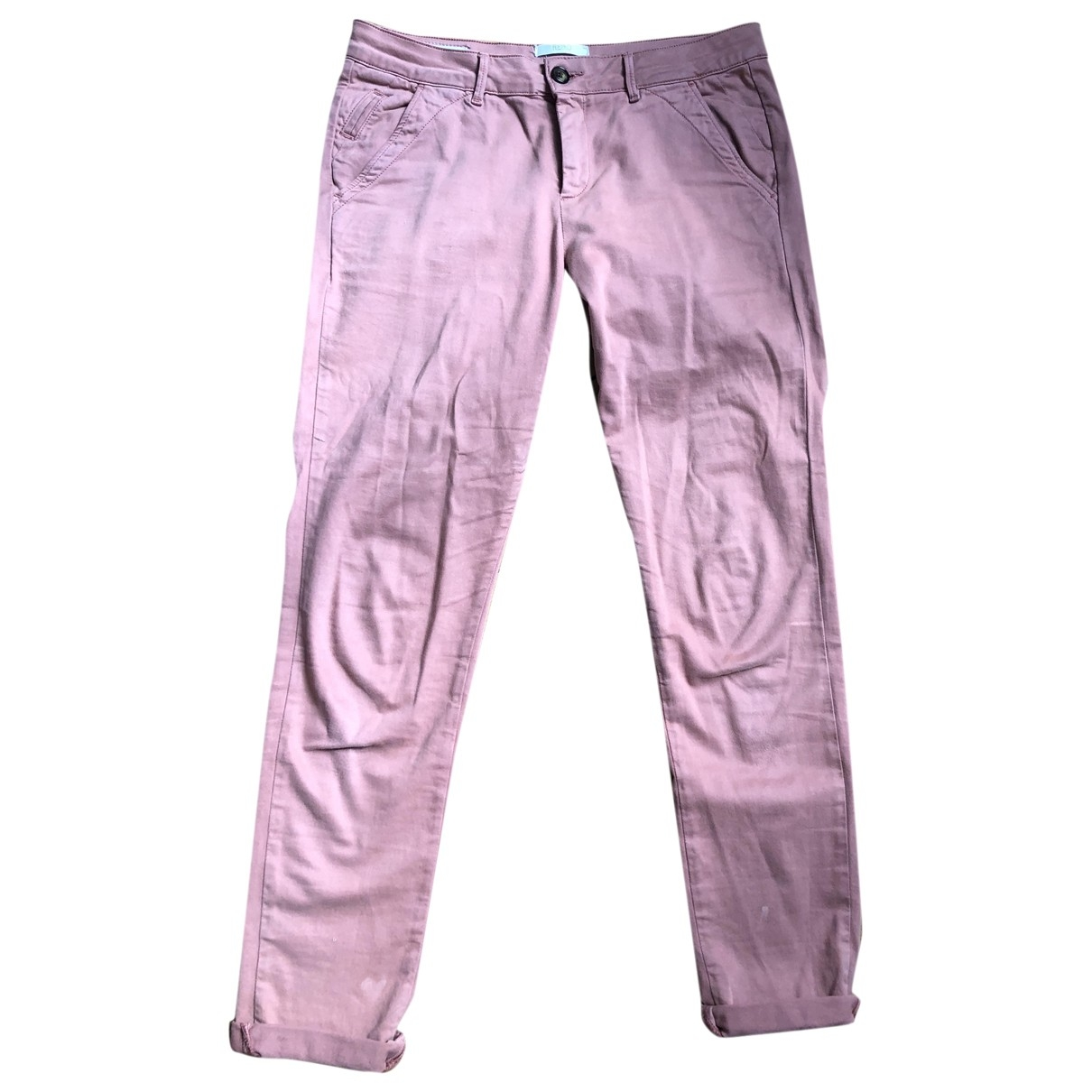 Reiko \N Pink Cotton Trousers for Women 36 FR
