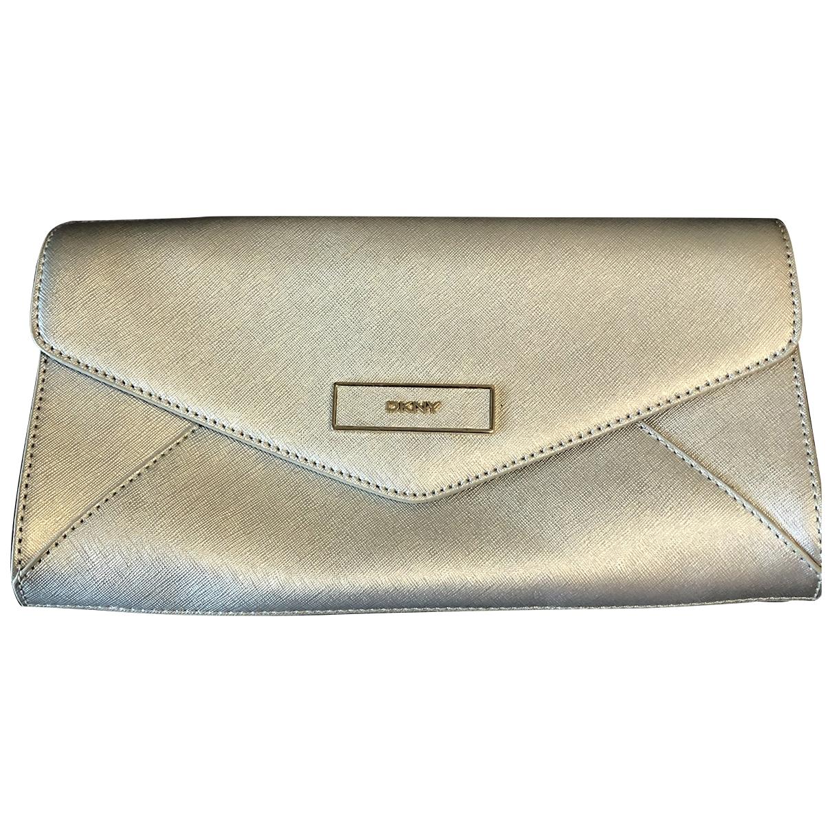 Dkny \N Silver Leather Clutch bag for Women \N