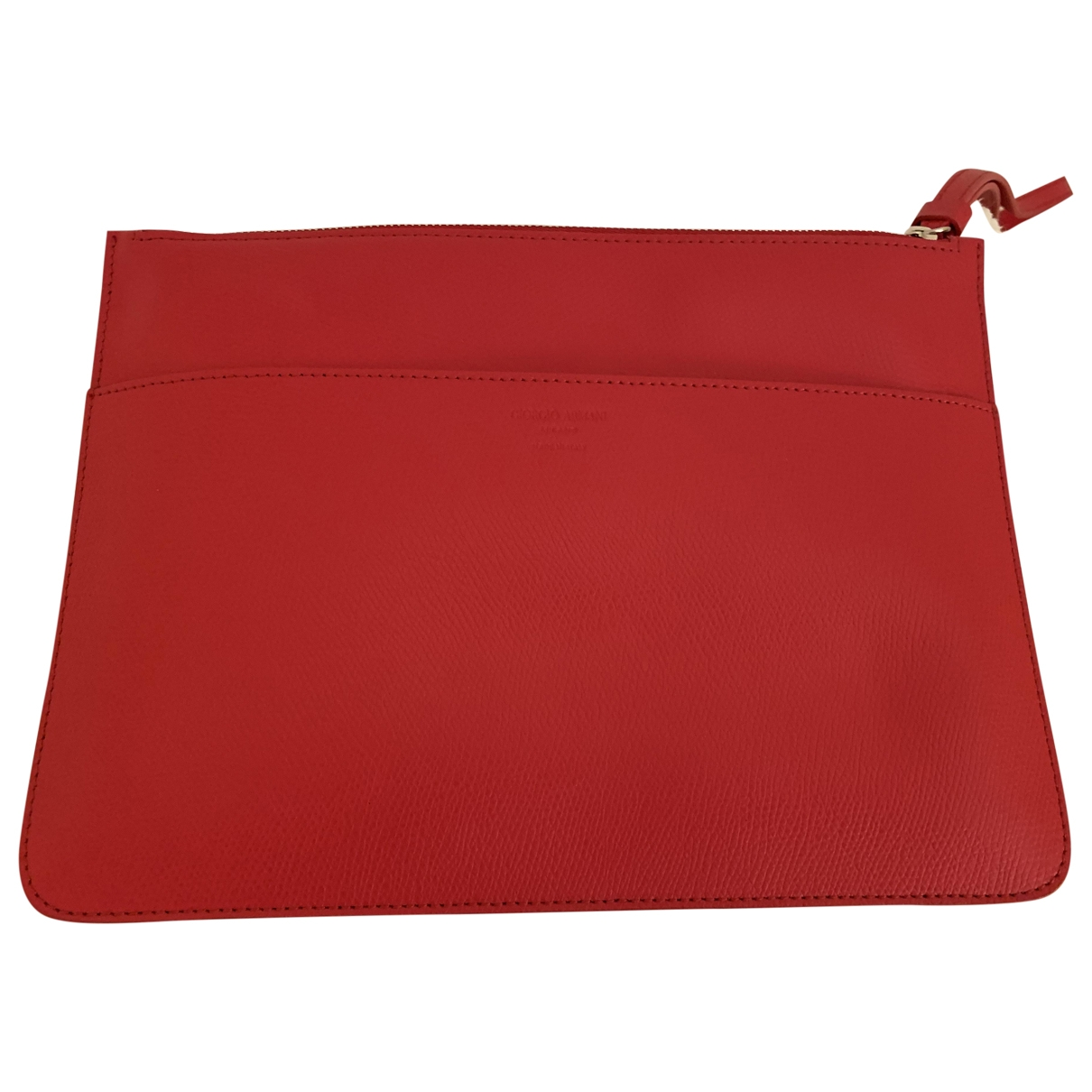 Giorgio Armani \N Red Leather Clutch bag for Women \N