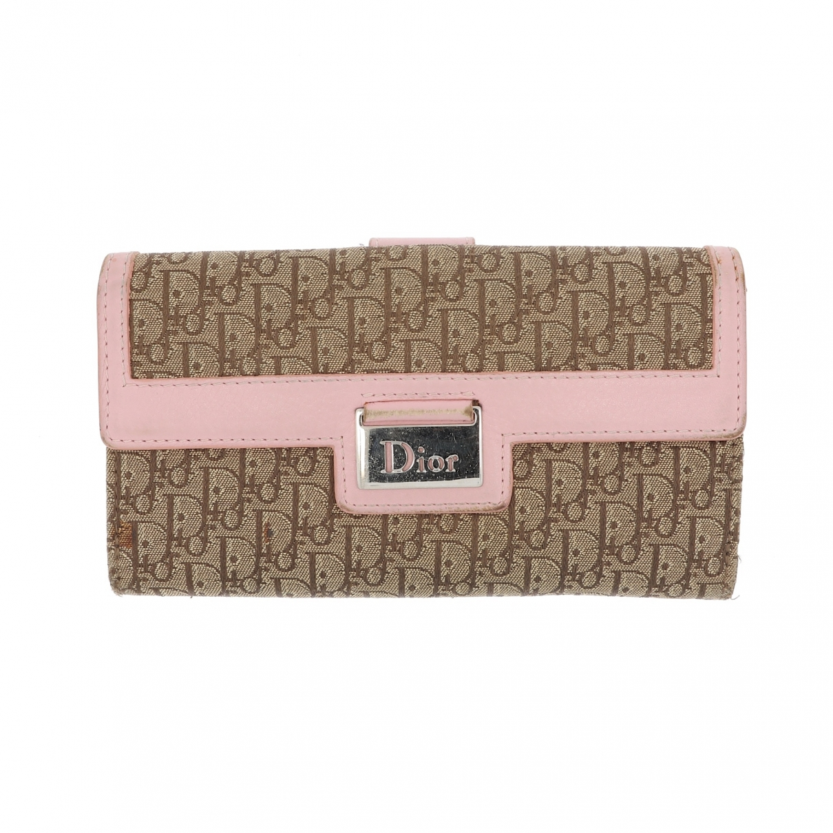 Dior \N Pink Leather wallet for Women \N