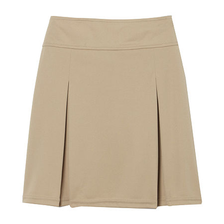 French Toast Little & Big Girls Elastic Waist Scooter Skirt, 20.5 Plus , Beige