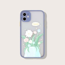 1pc Cartoon Flower Pattern iPhone Case