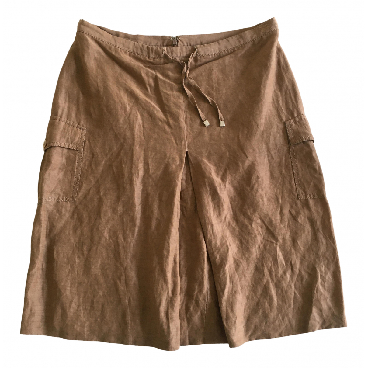 Burberry \N Camel skirt for Women 42 FR