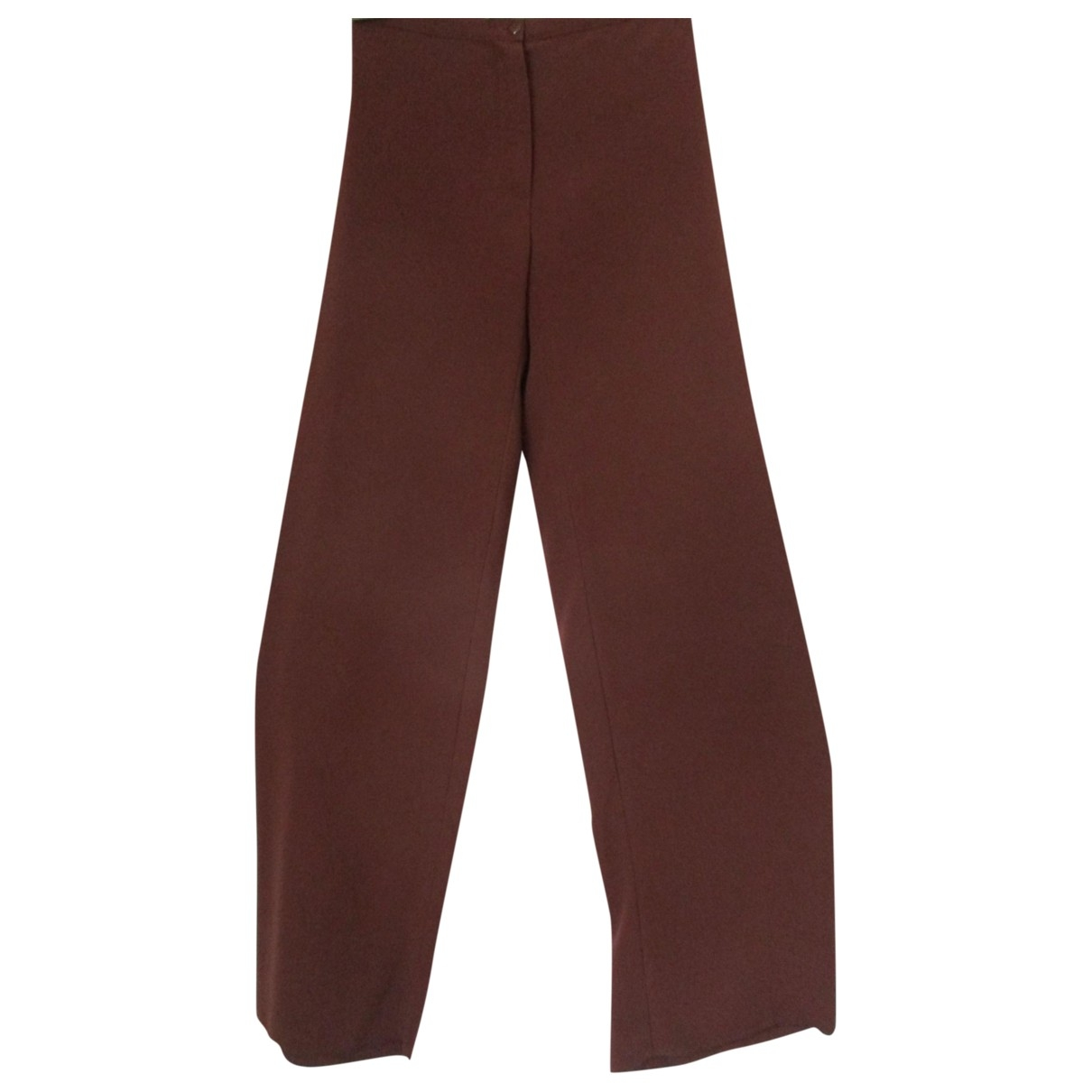 Salvatore Ferragamo \N Brown Trousers for Women 40 IT