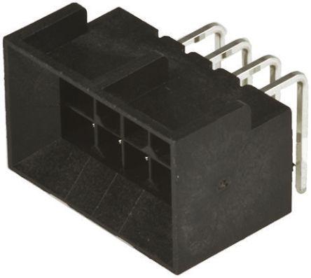 Molex , Micro-Fit BMI, 44428, 6 Way, 2 Row, Right Angle PCB Header