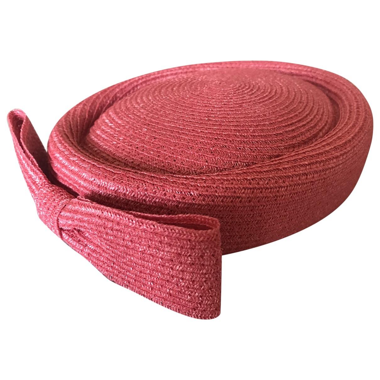 Mademoiselle Chapeaux \N Pink Wicker hat for Women S International
