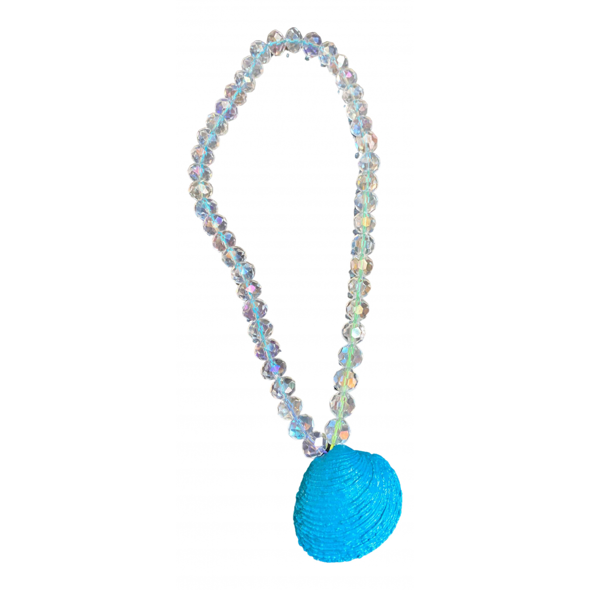 Non Signé / Unsigned Motifs Coquillages Blue Crystal necklace for Women \N