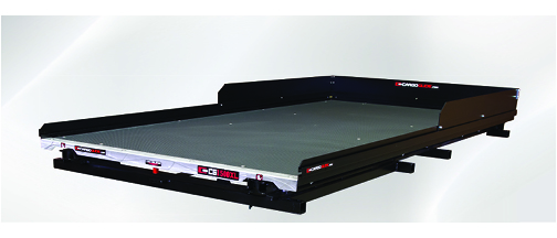 Low Profile Slide Out Truck Bed Tray 1500 lb capacity 100% Extension 36 Bearings  Alum Tie-Down Rails Plywood Deck Fits most 8FT Long Beds