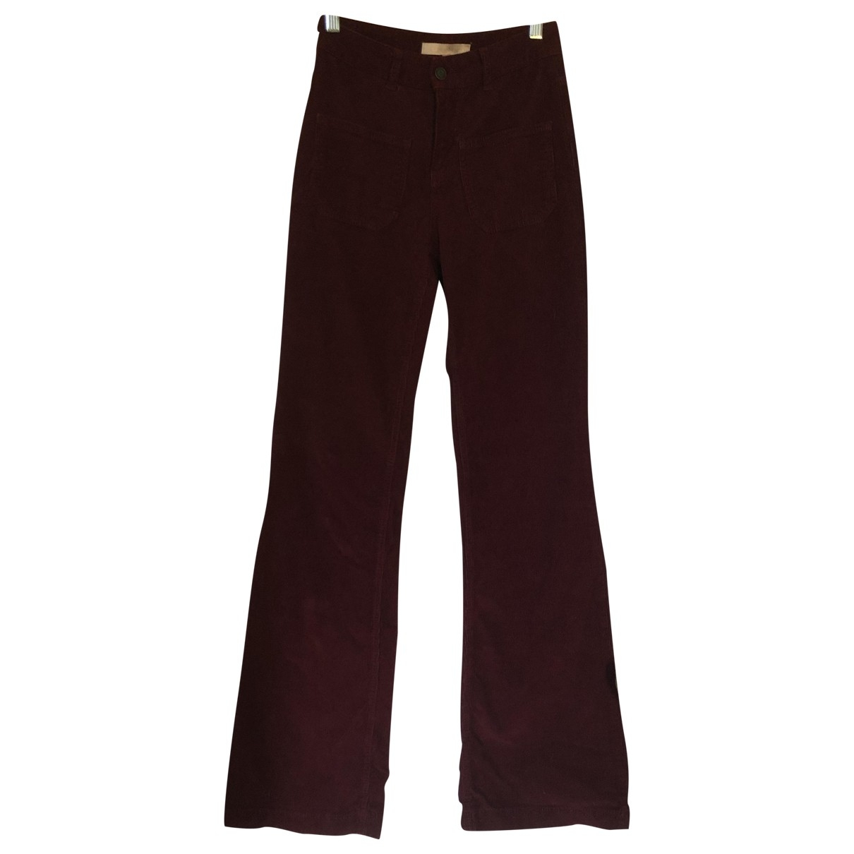 Vanessa Bruno \N Burgundy Suede Trousers for Women 34 FR