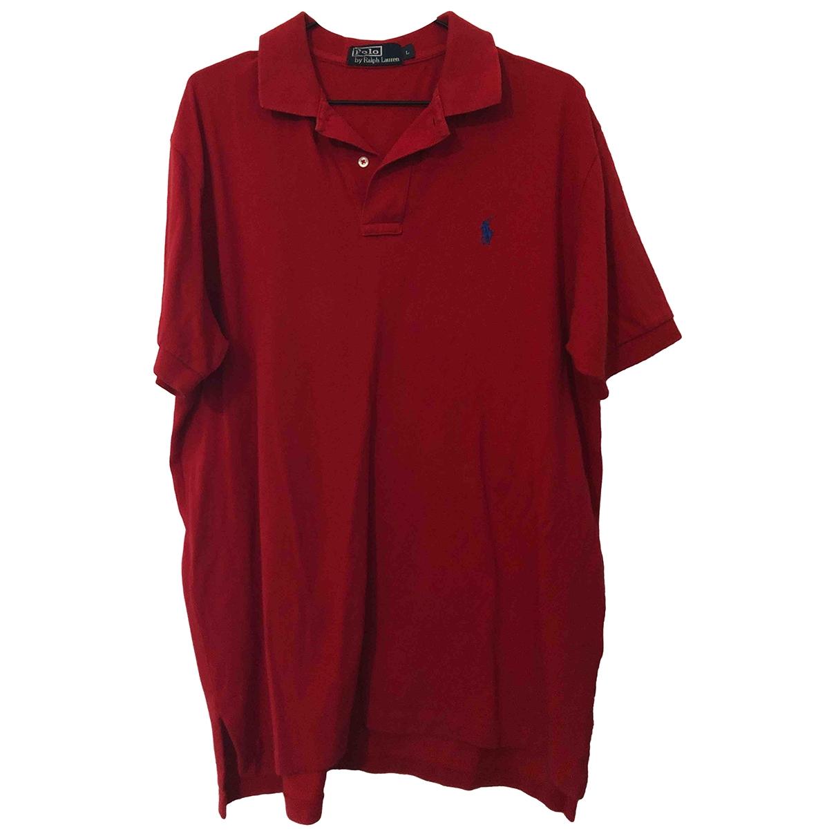 Polo Ralph Lauren Polo ajusté manches courtes Red Cotton Polo shirts for Men L International