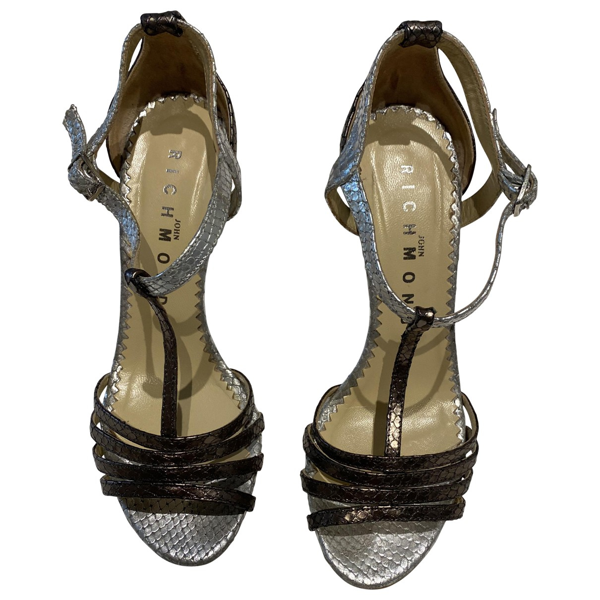 John Richmond \N Silver Leather Sandals for Women 38 EU