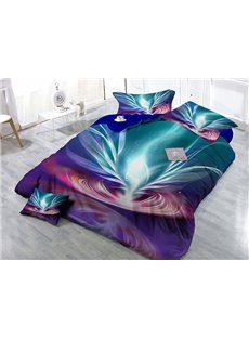 Abstract High-Definition Wear-resistant Breathable High Quality 60s Cotton 4-Piece 3D Bedding Sets