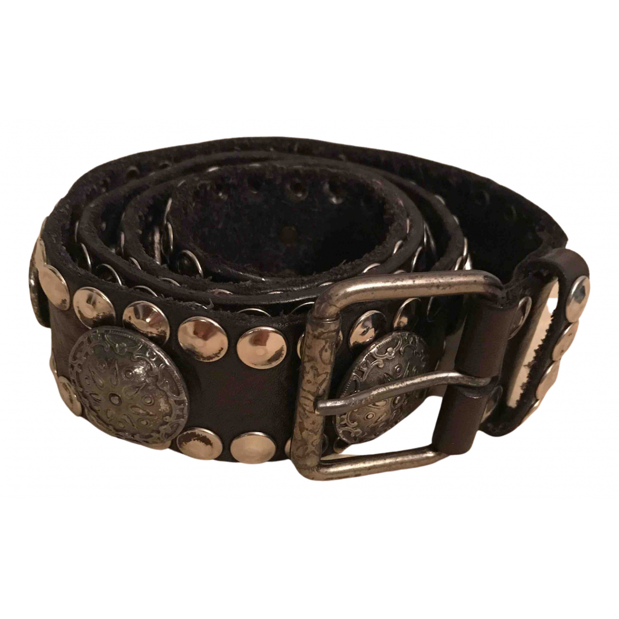 Non Signé / Unsigned \N Brown Leather belt for Women M International