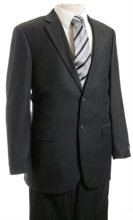 Mens Suit Charcoal Pinstripe affordable suit online sale