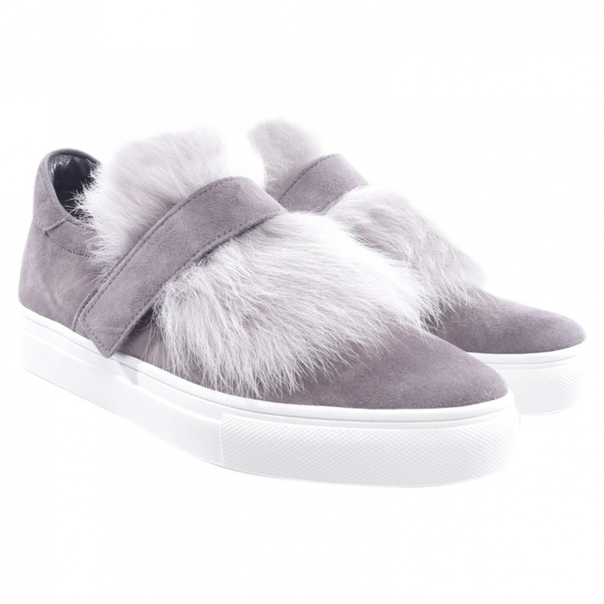 Kennel Und Schmenger \N Grey Leather Flats for Women 37.5 EU
