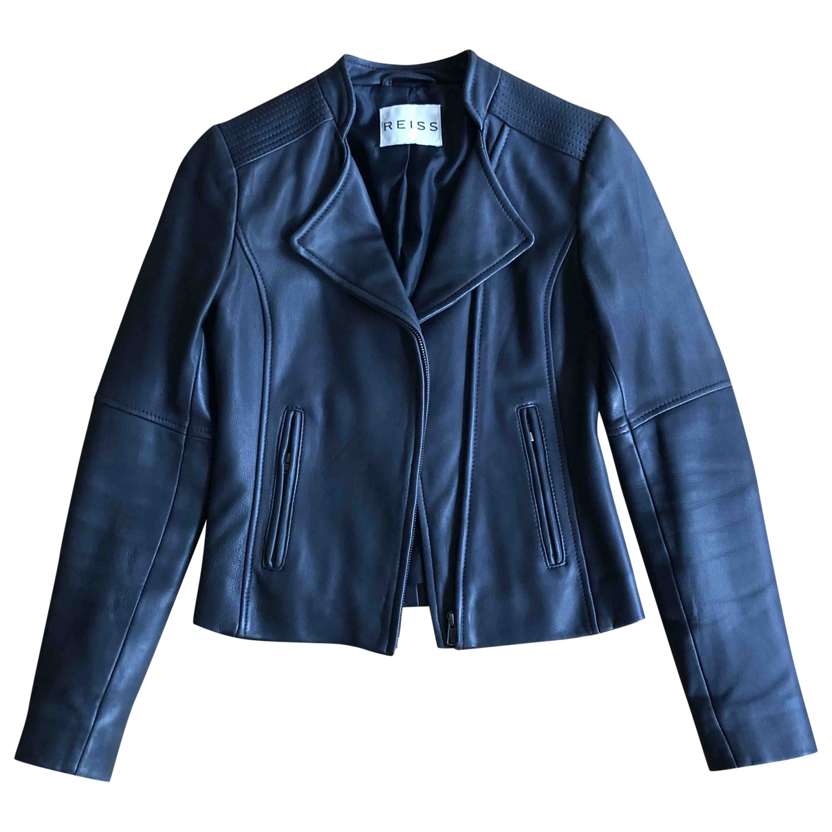 Reiss \N Black Leather Leather jacket for Women 8 UK