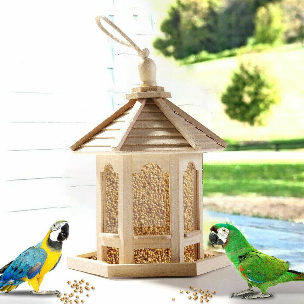 Share to: Wooden Bird House Feeder Frame Bird Cage Net for Feeding Tool