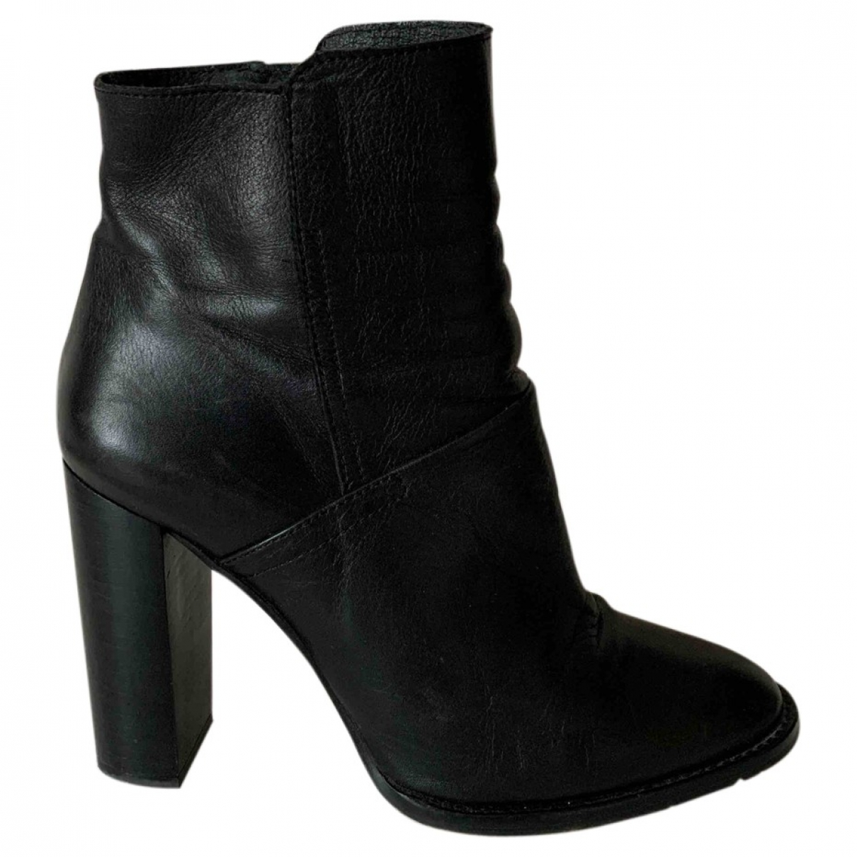 Buffalo \N Black Leather Ankle boots for Women 40 EU