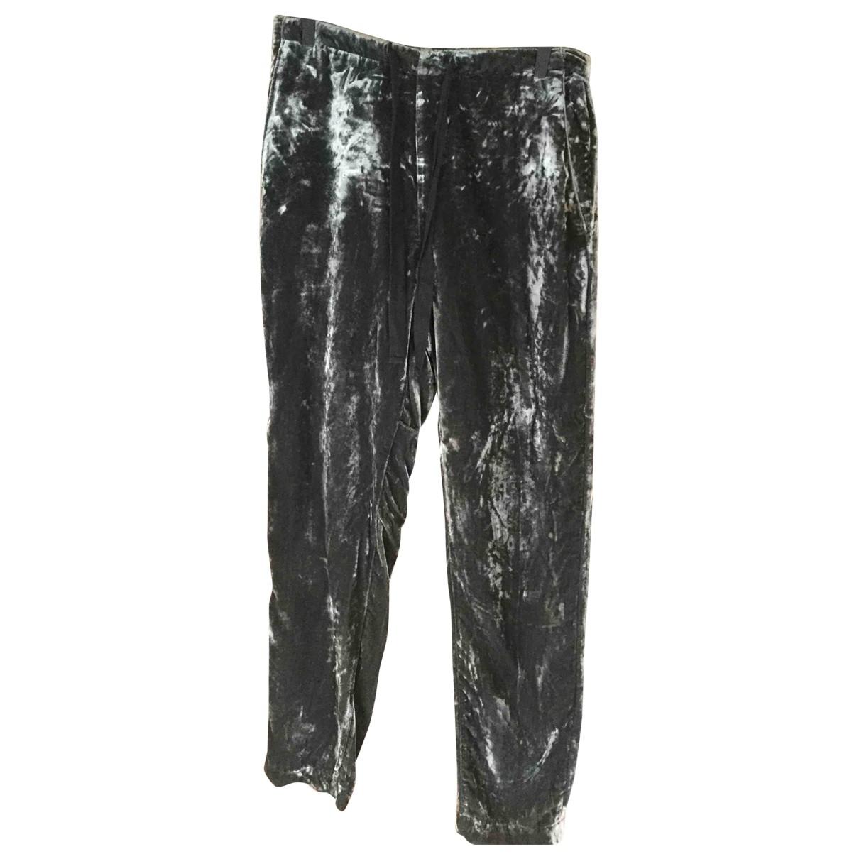 Bellerose \N Grey Velvet Trousers for Kids 18 years - L FR