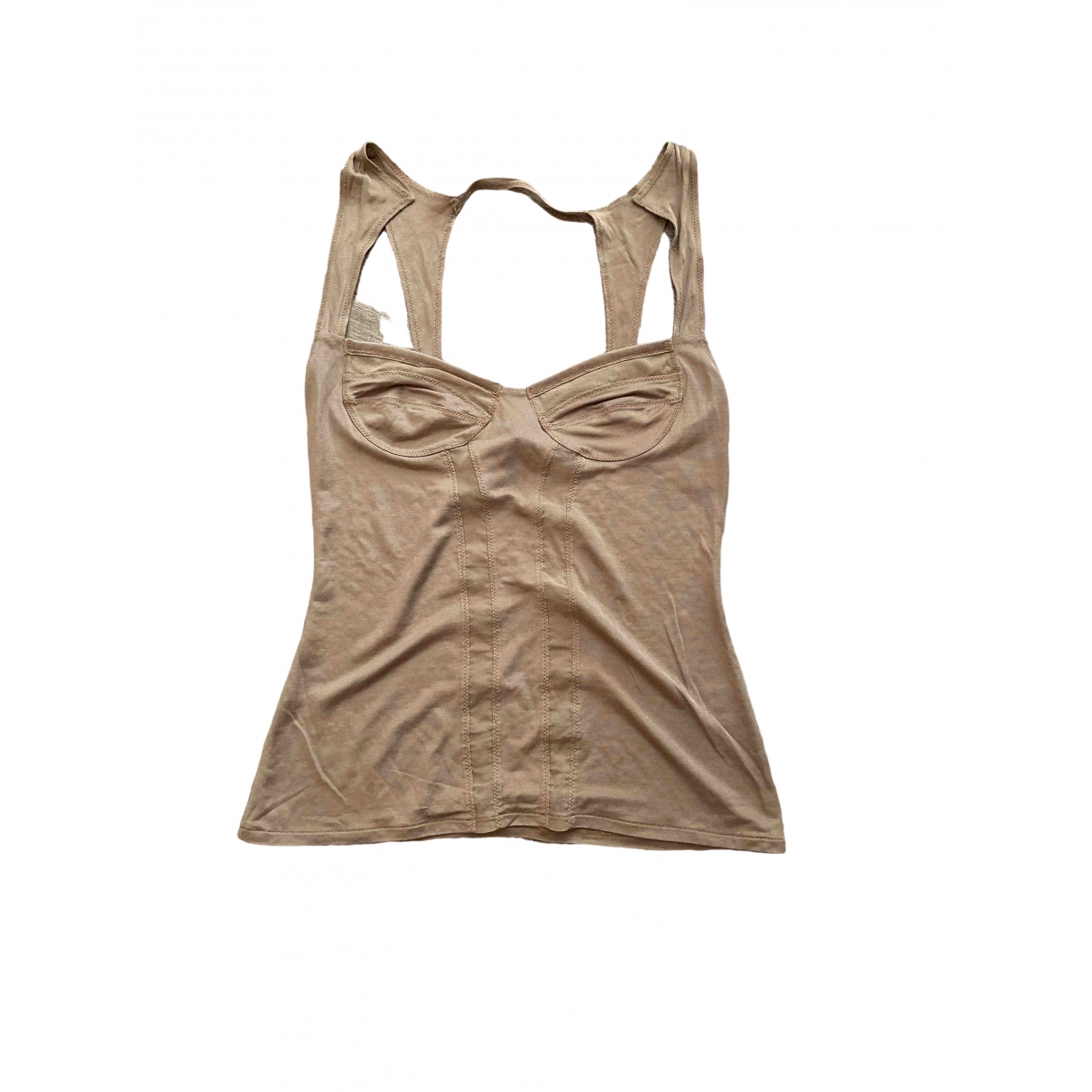 Gucci \N Camel Silk  top for Women XS International