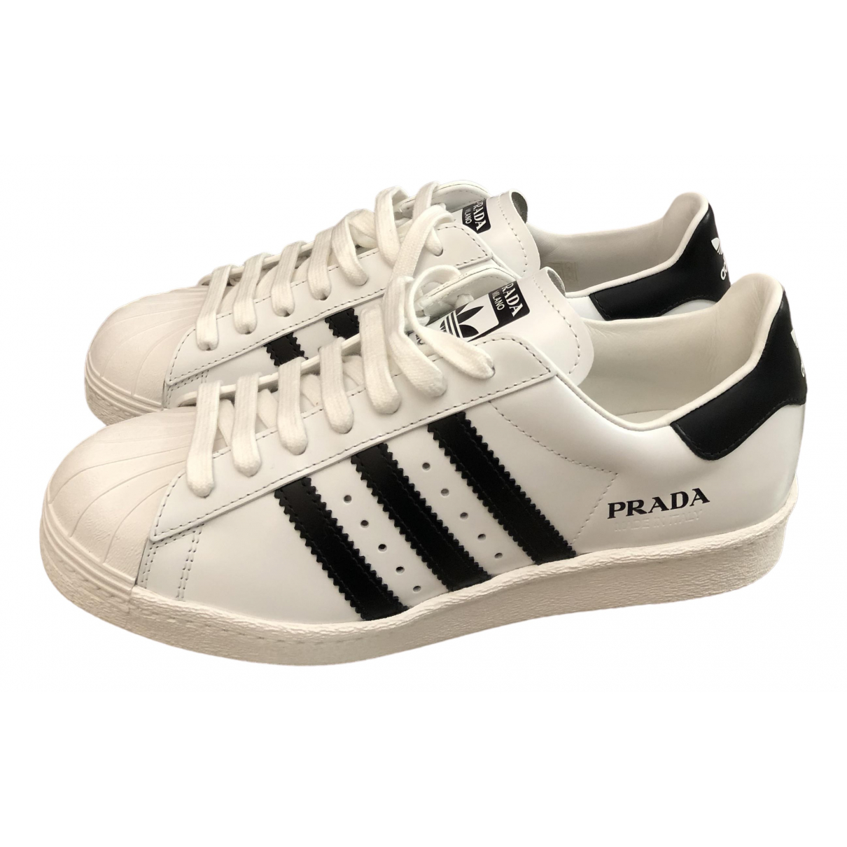 Prada X Adidas \N White Leather Trainers for Women 6.5 UK