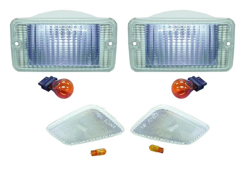 RT Offroad RT28015 Front Clear Parking & Side Marker Lamp Kit for 97-06 Jeep TJ Wrangler Jeep N/A