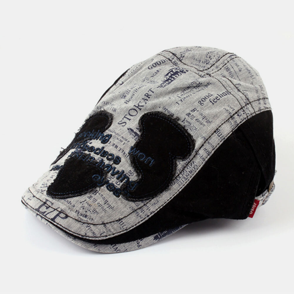 Men And Women Denim Stitching Flat Cap Fashion Outdoor Berets
