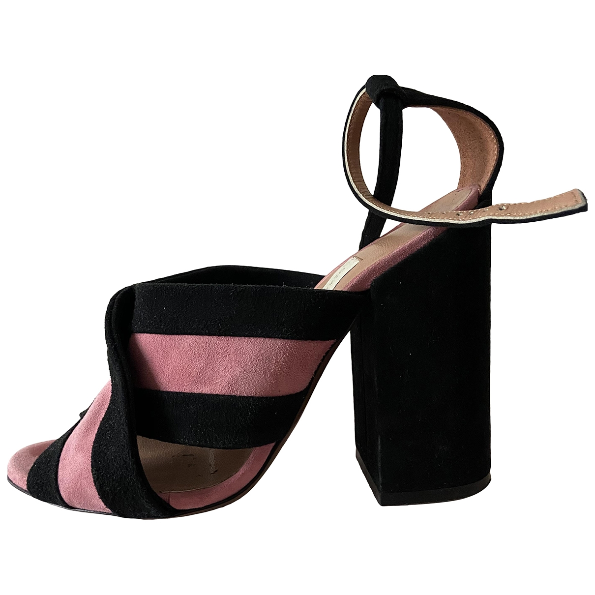 Non Signé / Unsigned \N Black Suede Sandals for Women 37 IT