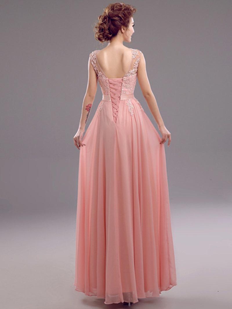 Ericdress Alluring Jewel Neck Appliques A-Line Prom Dress
