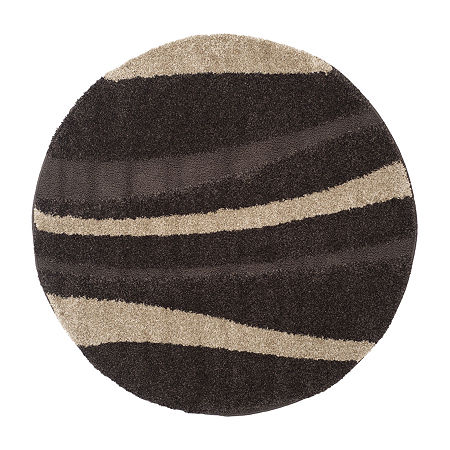 Safavieh Shag Collection Kimmee Abstract Round Area Rug, One Size , Multiple Colors