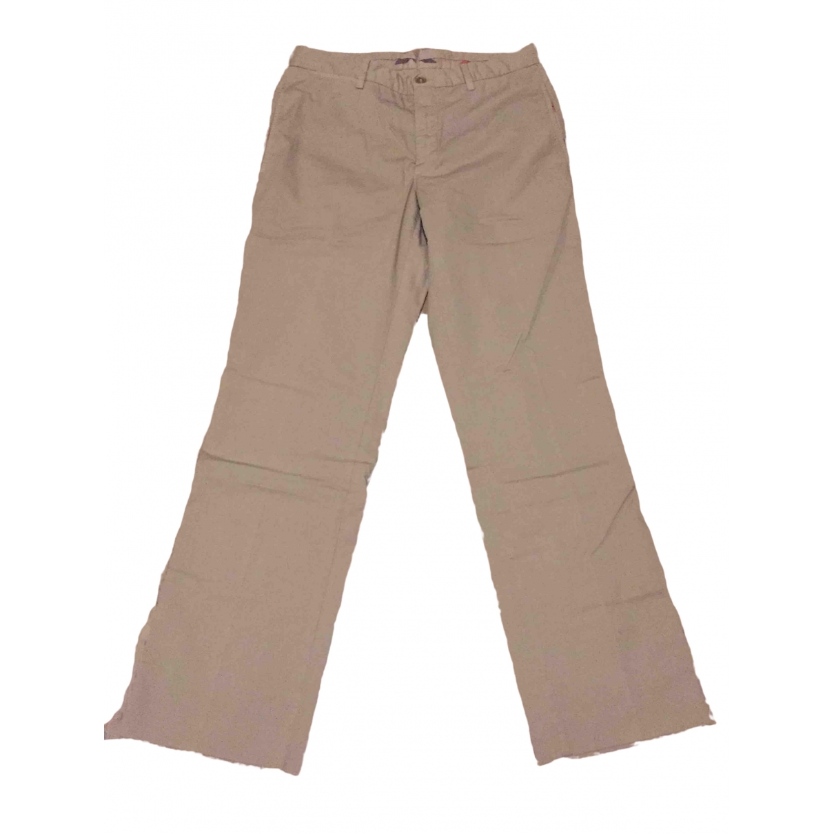 Burberry \N Beige Cotton Trousers for Men 38 FR