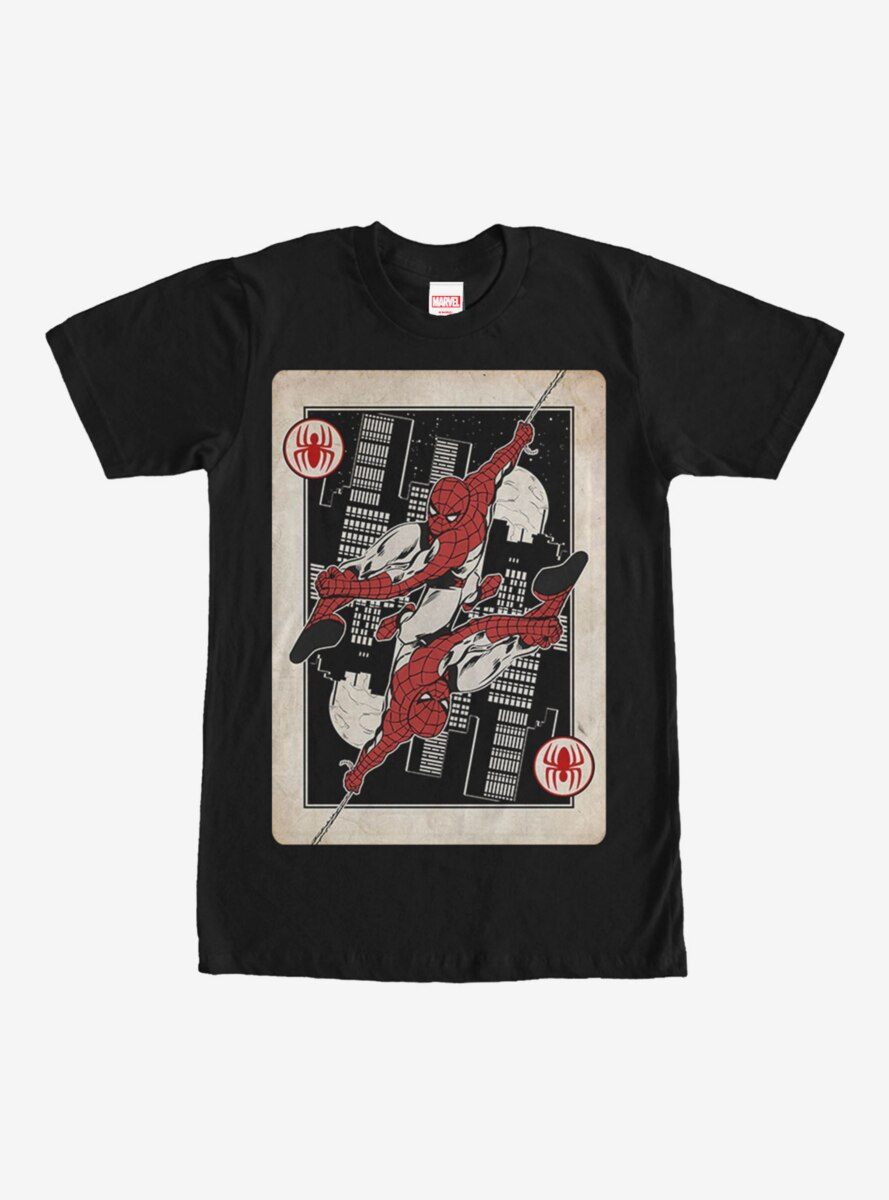 Marvel Spider-Man Playing Card T-Shirt