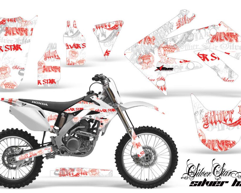 AMR Racing Dirt Bike Graphics Kit Decal Sticker Wrap For Honda CRF250R 2004-2009áSSSH RED WHITE