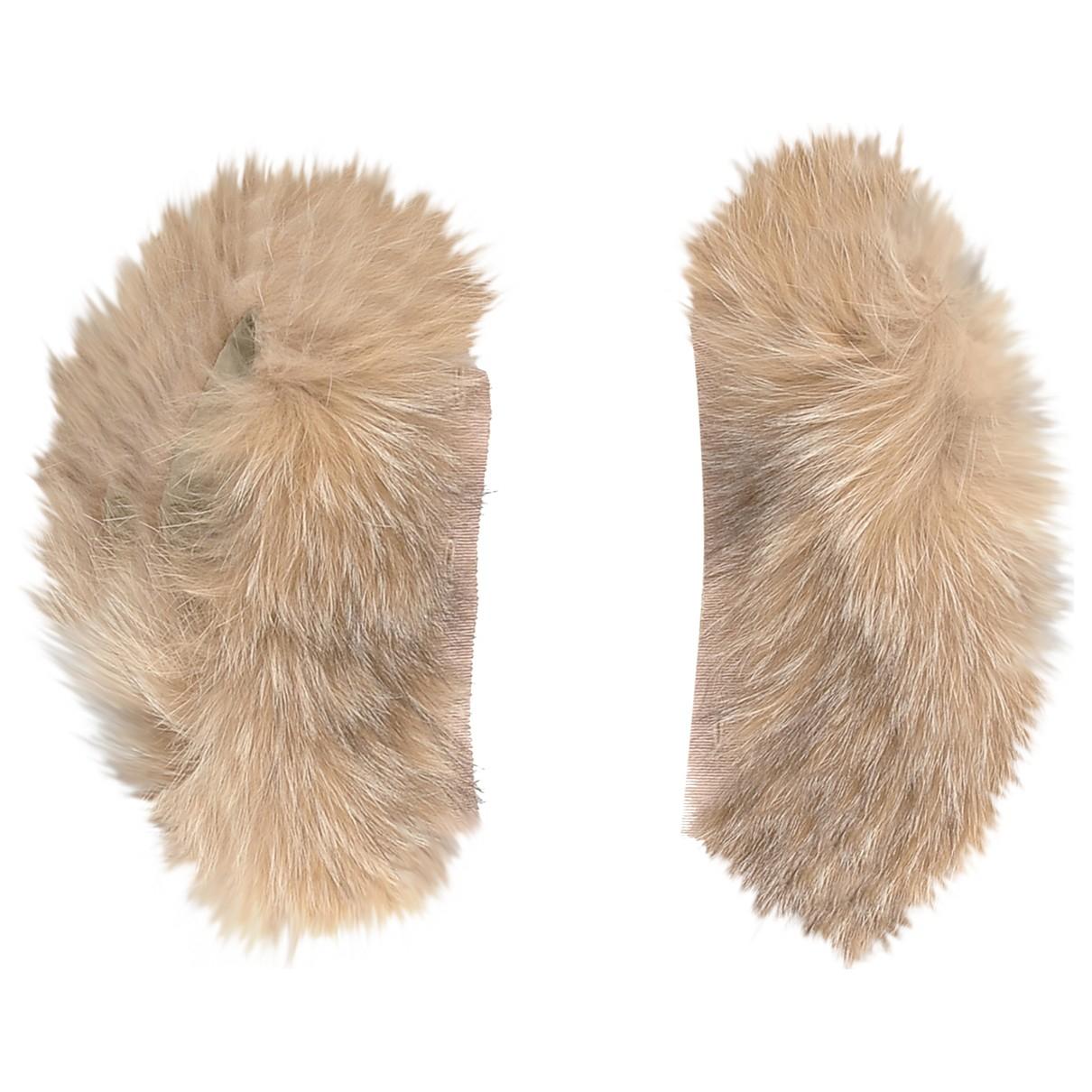 Max Mara \N Camel Fur Silk handkerchief for Women \N