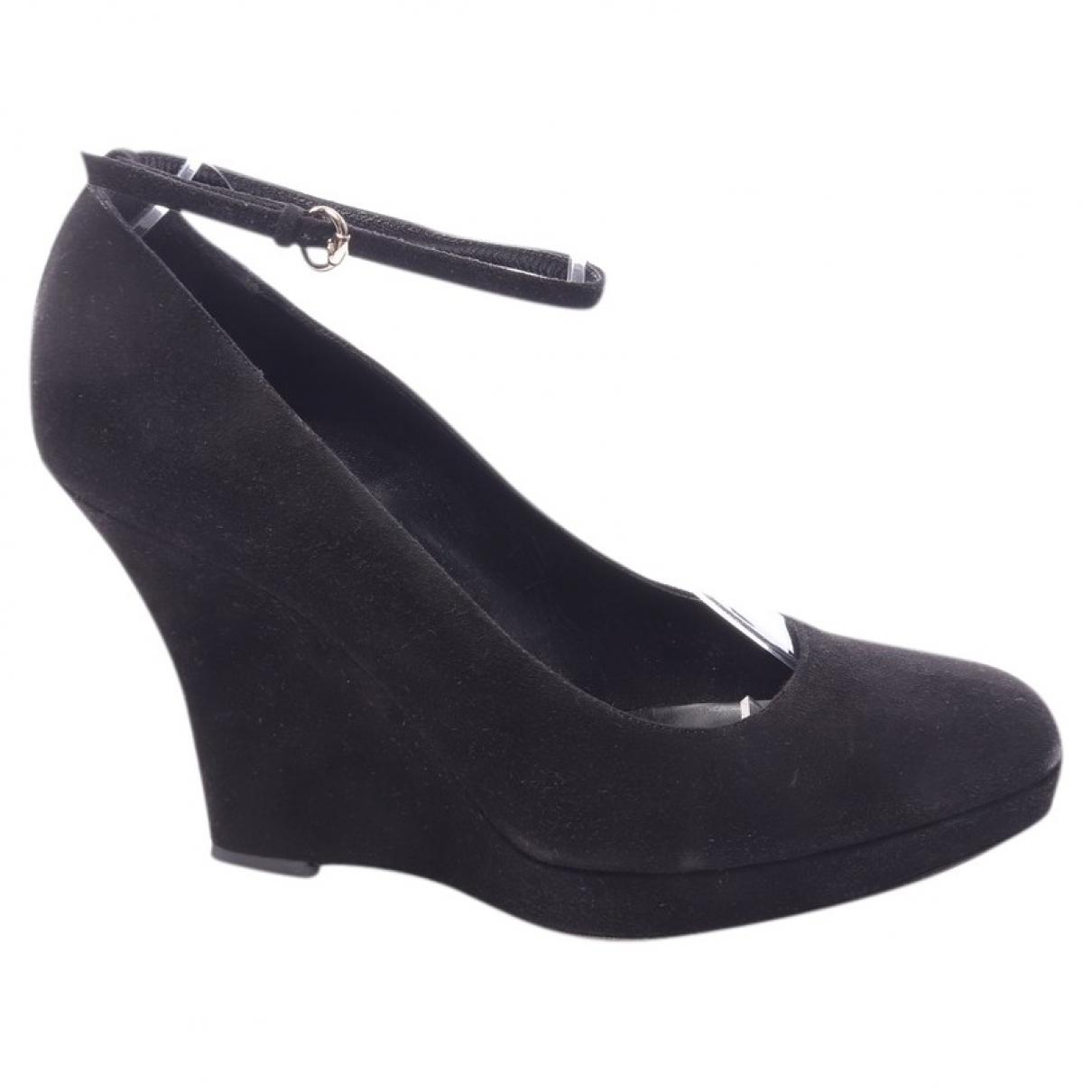 Gucci \N Black Leather Heels for Women 39 EU