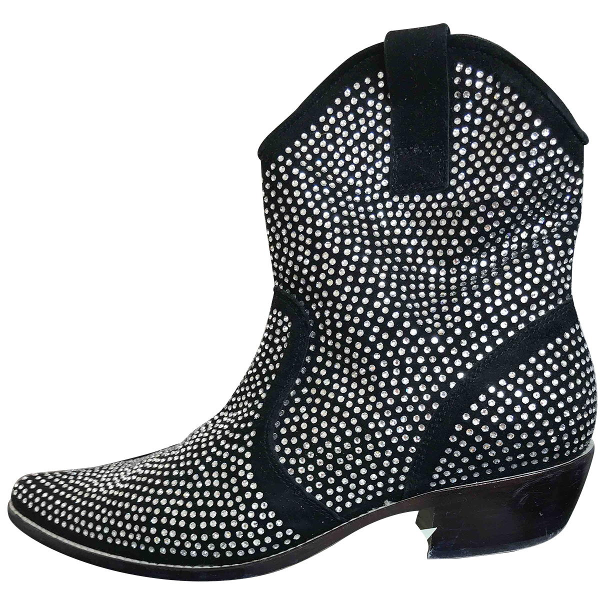 Non Signé / Unsigned \N Black Suede Ankle boots for Women 39 EU