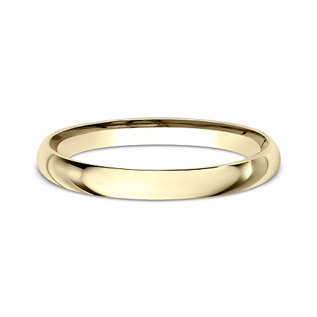Womens 10K Yellow Gold 2MM Comfort-Fit Wedding Band, 4 1/2 , No Color Family