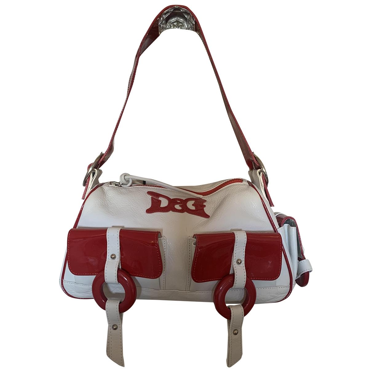 D&g \N White Leather handbag for Women \N