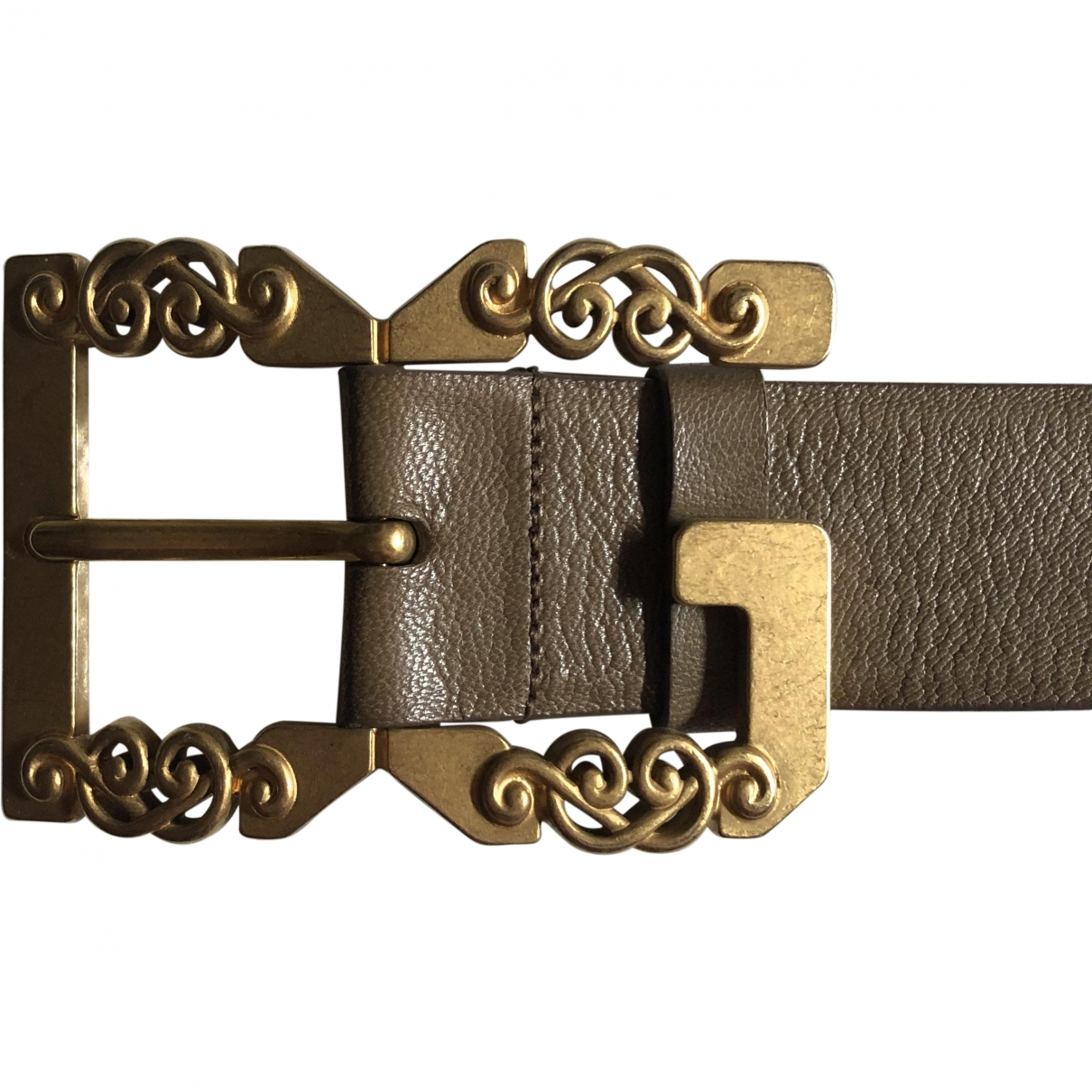 Dolce & Gabbana \N Ecru Leather belt for Women 95 cm