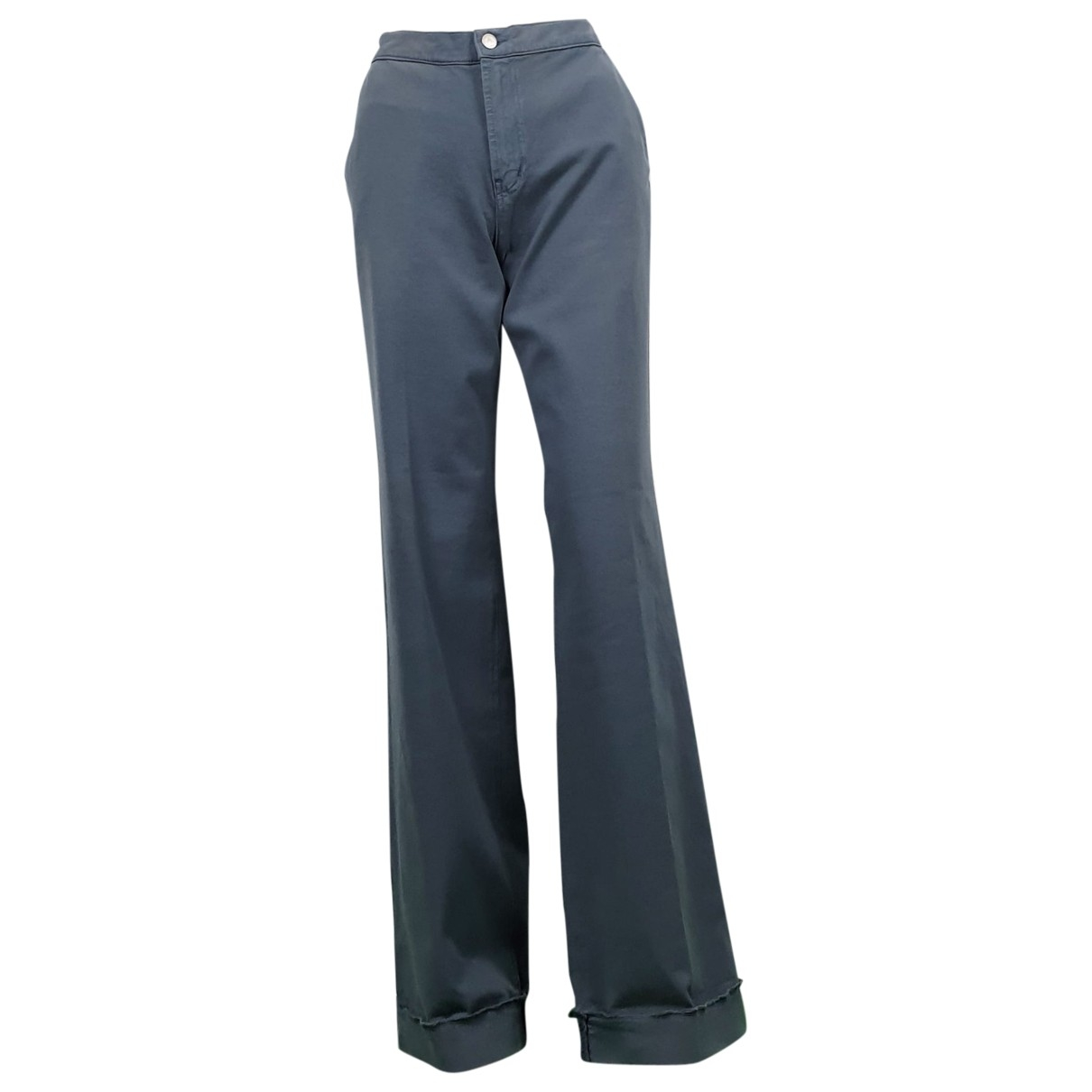 Fiorucci \N Turquoise Cotton Trousers for Women 44 IT