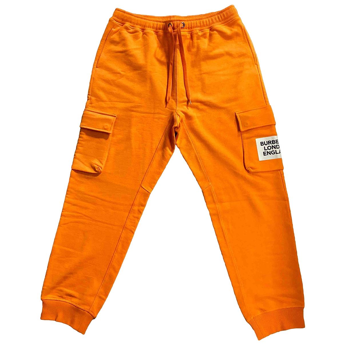 Burberry \N Orange Cotton Trousers for Men L International