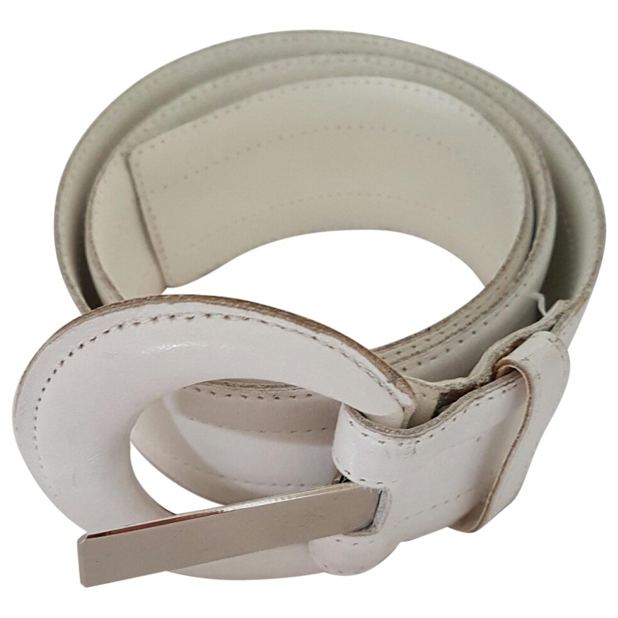 Yves Saint Laurent \N White Leather belt for Women 75 cm