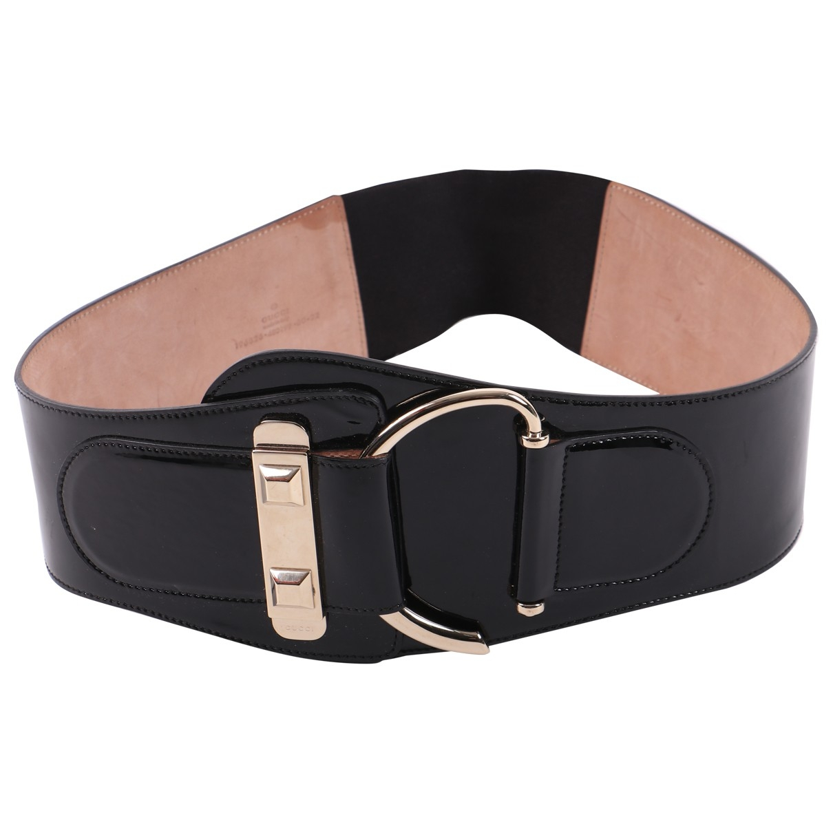 Gucci \N Black Patent leather belt for Women 85 cm