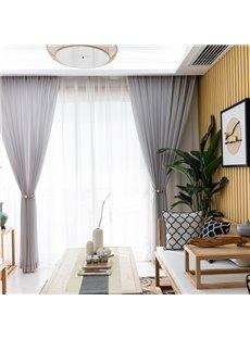 Simple Modern Decorative Pure Color Custom Sheer Curtains