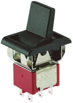 TE Connectivity Double Pole Double Throw (DPDT), On-None-(On) Rocker Switch Panel Mount