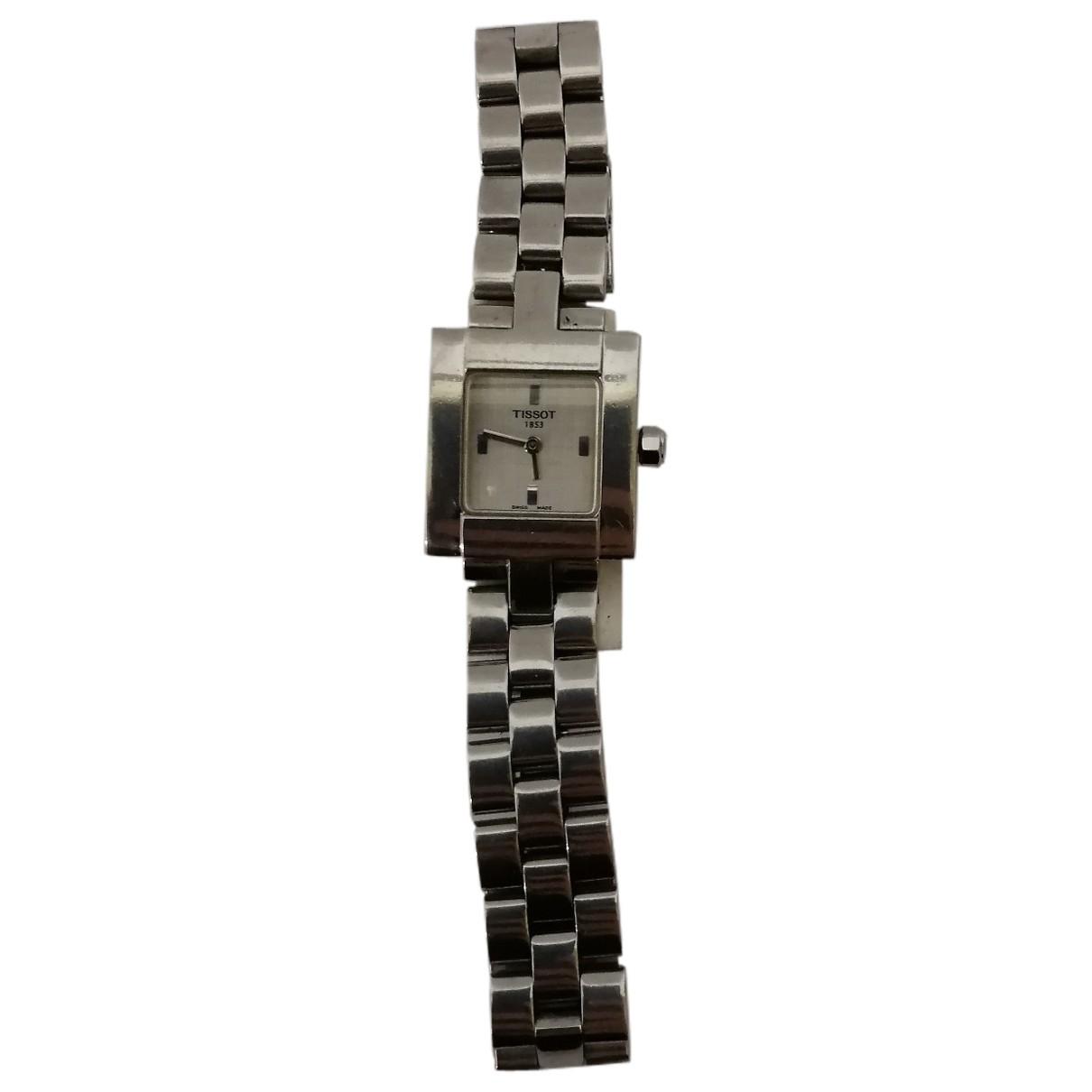 Tissot \N Silver Steel watch for Women \N